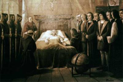MUERTE DE CRISTÓBAL COLÓN, EN VALLADOLID, ESPAÑA