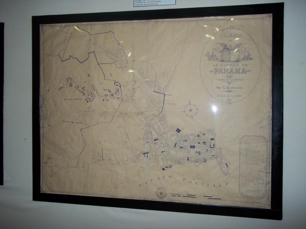 Original del Plano de la CIudad de Panamá en 1904, por Bertoncini y Lemm, Isthmian Canal Commission, Colección del Archivo Nacional.